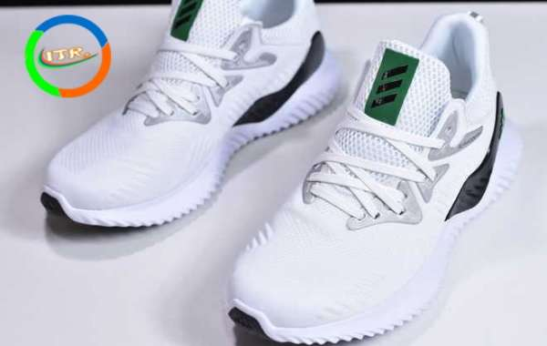 2020 Adidas Alphabounce Beyond M White/Grey/Black/Green B89090 Shoes