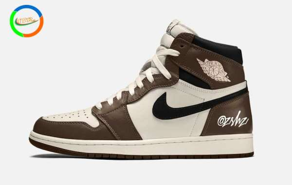 "555088-120 Air Jordan 1 High OG ""Dark Mocha"" Basketball Shoes"
