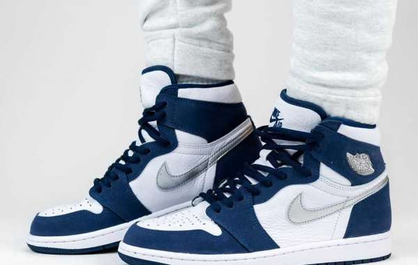 "Latest Air Jordan 1 High OG CO.JP ""Midnight Navy"" Sneakers DC1788-100"