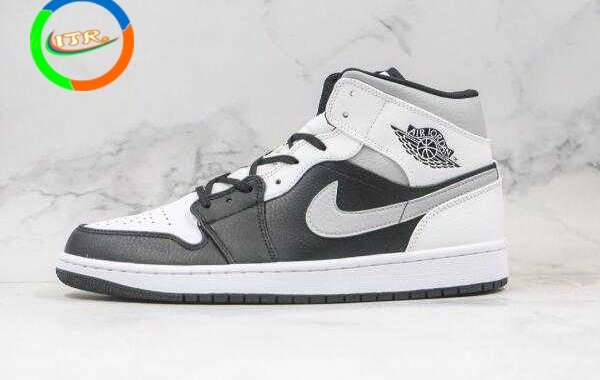 Online Sale 554724-073 Air Jordan 1 Mid White Shadow