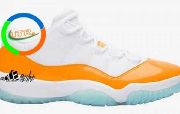 "AH7860-139 Aj 11 Low WMNS ""Bright Citrus"" White/Bright Citrus will be released in April 2021"