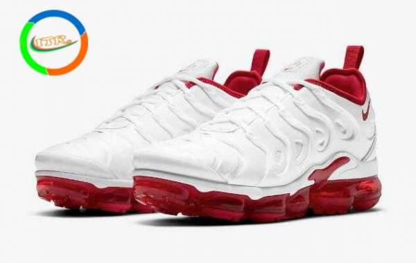"Nike Air VaporMax Plus ""Cherry"" White-University Red DH0279-100"