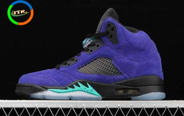 Hot Sale Air Jordan 5 Retro Grape Ice New Emerald Black 136027-500