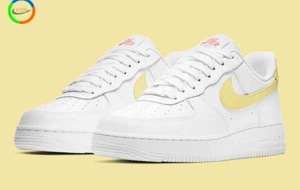 2021 Women's Nike Air Force 1 Low Get Creamy Yellow Nike 315115-160