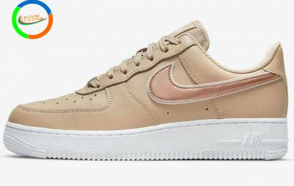 Latest Nike Air Force 1 Low Hemp Drop With Rose Gold Swooshes