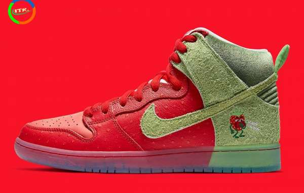 """CW7093-600 Nike SB Dunk High """"Strawberry Cough"""" will be released on October 22"""